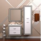 Комплект мебели Opadiris Карат 80 Белый глянцевый с золотой патиной или Белый глянцевый с серебряной патиной