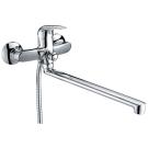 Смеситель для ванны с длинным изливом Milardo Baffin BA232A9CK MI