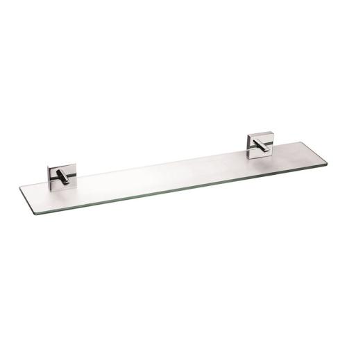 Полка стеклянная матовое стекло сплав металлов Amur Milardo AMUSMG0M44