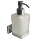 Дозатор для жидкого мыла матовое стекло сплав металлов Labrador Milardo LABSMG0M46