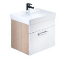 Тумба для ванной комнаты подвесная белая/под дерево 50 см Mirro IDDIS MIR50W0i95