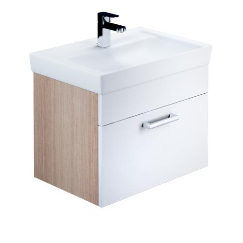 Тумба для ванной комнаты подвесная белая/под дерево 60 см Mirro IDDIS MIR60W0i95