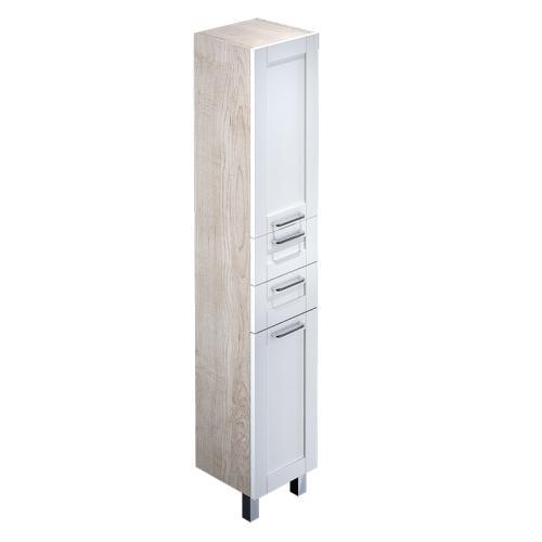 Пенал для ванной комнаты напольный белый/дерево 36 см Sena IDDIS SEN3600i97