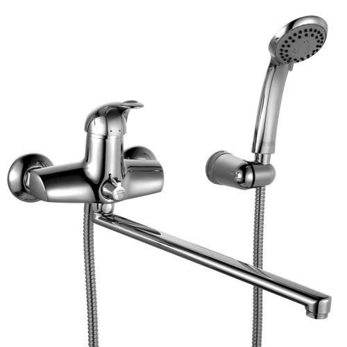 Смеситель для ванны с длинным изливом с керамическим дивертором Carlow IDDIS CARSBL2i10