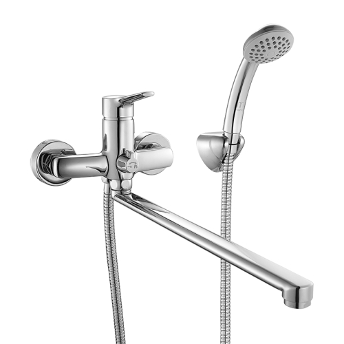 Смеситель для ванны с длинным изливом с керамическим дивертором Enisey Milardo ENISBLCM10