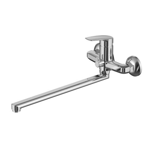 Смеситель для ванны с длинным изливом с керамическим дивертором Niagara Milardo NIASBLCM10