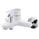 Тритон 16304 Смеситель Triton для ванны, короткий излив, однорычажный, белый
