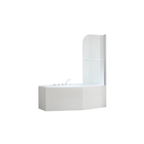 Шторка для ванны распашная 6 мм L-1001 SSWW