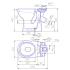 221100 Унитаз-компакт Персона косой выпуск, нижний подвод, механизм слива одноуровневый 6,5л, с сиденьем полипропилен и откидным поручнем (для МГН)