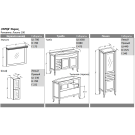 Комплект мебели Opadiris Мираж 100 Светлый орех
