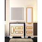 Комплект мебели Opadiris Оникс 80 Белый глянцевый с золотой патиной или Белый глянцевый с серебряной патиной