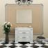 Комплект мебели Opadiris Оникс 100 Белый глянцевый с золотой патиной или Белый глянцевый с серебряной патиной