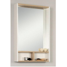 AКВАТОН. Зеркало-шкаф Йорк 60 Белый/Дуб сонома 1A170102YOAD0