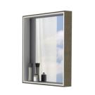 Акватон Зеркало-шкаф Фабиа 65 корица 1A159702FBPF0 с подсветкой 650х850