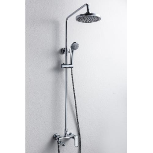 OPAL душевая колонна со смесителем для ванны, поворотный излив (верхний душ квадратной формы) Bravat 7F6125183CP-A-RUS