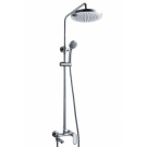 OPAL душевая колонна со смесителем для ванны, поворотный излив (верхний душ круглой форм D-245) Bravat 7F6125183CP-A3-RUS