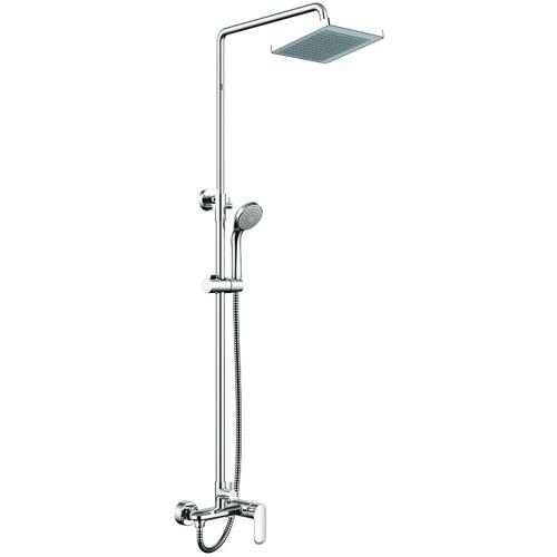 OPAL душевая колонна со смесителем для душа (верхний душ квадратной формы) Bravat 7F9125183CP-A-RUS