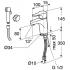LINE cмеситель для раковины с гигиеническим душем Bravat 7F15299C-2