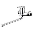 LOOP смеситель для ванны с длинным изливом Bravat F6124182CP-02L-RUS