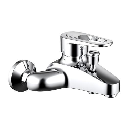LOOP смеситель для ванны с коротким изливом Bravat F6124182CP-01-RUS