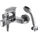 RIFFLE смеситель для ванны с коротким изливом и душевой лейкой Bravat F672106C-B