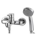 STREAM cмеситель для ванны с коротким изливом и душевой лейкой Bravat 7F63783C-B