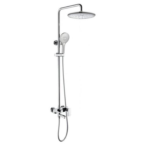 Bravat F6336370CP-A-RUS RIFFLE Душевая колонна со смесителем для ванны поворотный излив