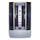 Душевая кабина FARO 420, задняя черная стеклянная панель, серое стекло с парогенератором 220x145x85