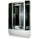 Душевая кабина FARO 420, задняя черная стеклянная панель, серое стекло с парогенератором 220x170x85