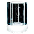 Душевая кабина FARO 8005, задняя черная стеклянная панель, серое стекло 220x150x150