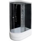 Душевая кабина FARO С120 L/R, стекло матовое, задняя белая стеклянная панель 120x800x220