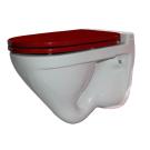 SANITA LUXE Унитаз подвесной Attica Color Red SL DM белый (сиденье дюропласт с микролифтом)