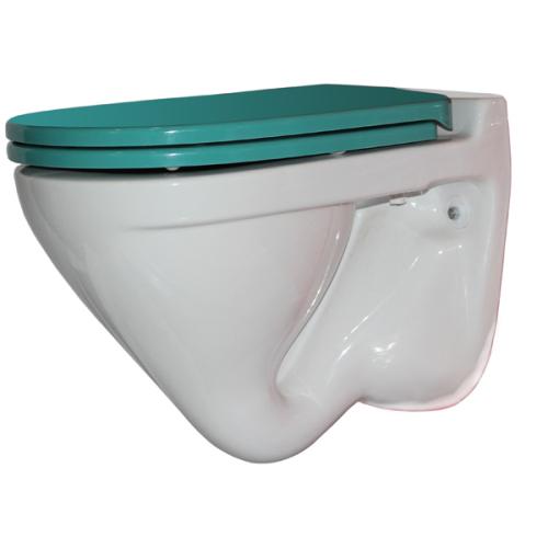 SANITA LUXE Унитаз подвесной Attica Color Sea SL DM белый (сиденье дюропласт с микролифтом)