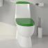 SANITA LUXE Унитаз-компакт Best Color Green SL DМ двухрежимный белый (сиденье дюропласт с микролифтом / арматура Geberit)
