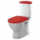 SANITA LUXE Унитаз-компакт Best Color Red SL DМ двухрежимный белый (сиденье дюропласт с микролифтом / арматура Geberit)