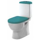SANITA LUXE Унитаз-компакт Best Color Sea SL DМ двухрежимный белый (сиденье дюропласт с микролифтом / арматура Geberit)