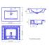 SANITA LUXE Умывальник Quadro 45 для столешницы и мебельной тумбы