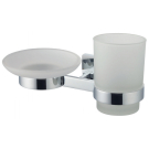 Модерн держатель для стакана и мыла, стекло, хром SMARTsant SM02053AA_R