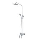Смарт-Прайм душевая система со смесителем ванна/душ, комплект: штанга, ручн.перек., 3-функц. душ. лейка, лейка верхнего душа d 200 мм, шланг SMARTsant SM1108AA_R