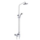 Смарт-Инлайн душевая система со смесителем ванна/душ, комплект: штанга, ручн.перек., 3-функц. душ. лейка, лейка верхнего душа d 200 мм, шланг SMARTsant SM1507AA_R