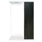 Шкаф-зеркало Панда 550/с 3D Черный страйп Iris