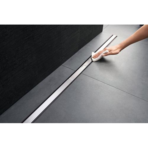 Geberit Крышка душевого канала CleanLine 20: 30-90 cм тёмный/ потёртый металл Арт 154.450.00.1