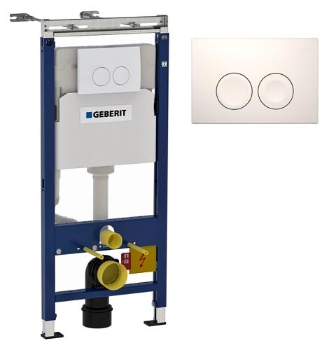 Geberit элемент монтажный DUOFIX Plattenbau с белой кнопкой Арт 458.122.11.1