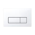 Geberit смывная клавиша DELTA51 пластик с белой кнопкой Арт 115.105.11.1