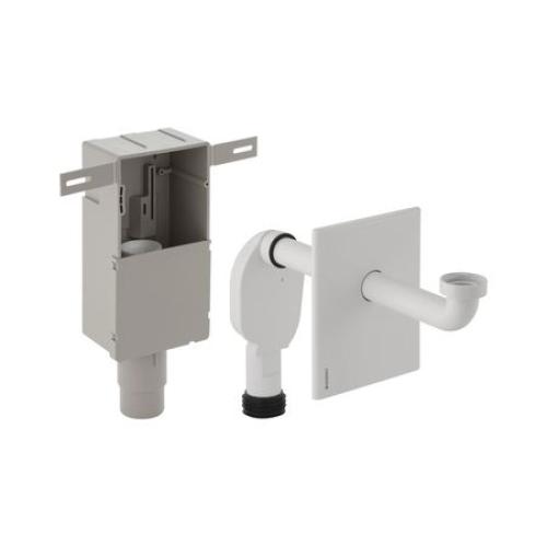 Geberit Сифон для умывальник внутристенный с белой кнопкой Арт 151.120.11.1