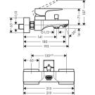 Metropol смеситель для ванны однорычажный Hansgrohe 32540000