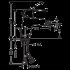 Logis Loop смеситель для биде 70 хром Hansgrohe 71250000