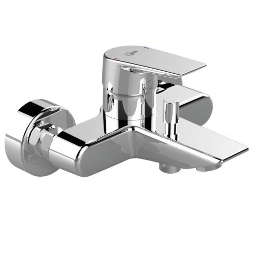 Теси смеситель для ванны/душа литой излив 157 мм картридж 40 мм функция HWTC & CLICK металлическая рукоятка индикатор холодной/горячей воды хром Ideal Standard A6583AA