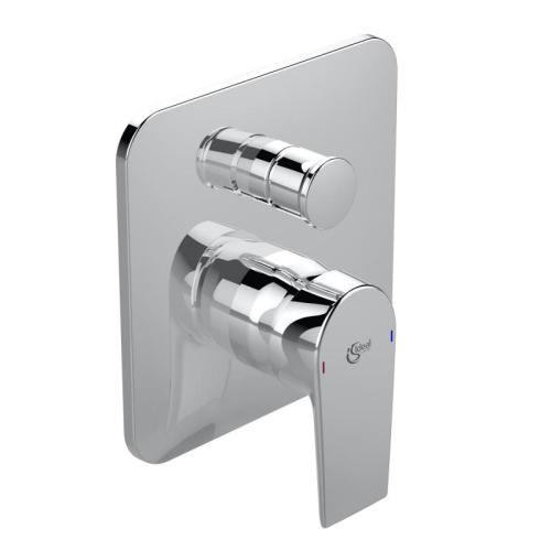 Теси смеситель встраиваемый для ванны/душа для комбинации с A1000NU картридж 40 мм MULTIPORT функция HWTC металлическая рукоятка обратный клапан хром Ideal Standard A6586AA