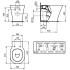 Коннект Эйр AQUABLADE унитаз соло пристенный белый Ideal Standard E004201